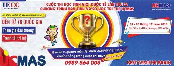 Thông cáo báo chí về Cuộc thi Học sinh giỏi Quốc tế UCMAS lần thứ 23