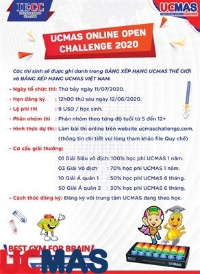 Cuộc Thi UCMAS Online Open Challenge 2020